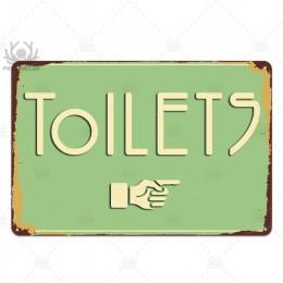 Znak wc tablica metalowa Vintage łazienka metalowy znak znak blaszany dekoracje ścienne do toalety łazienka toalety