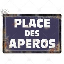 Miejsce Des Aperos tablica metalowa Vintage francuski Retro metalowy znak blaszany Bar Pub Club dekoracje ścienne metalowy obraz