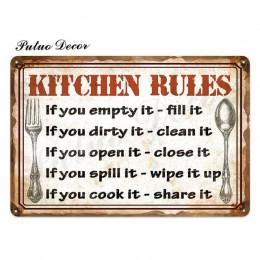 Kuchnia metalowa plakietka z napisem Metal vintage znak puszka Retro kuchnia znaki dom dom jadalnia dekoracja ścienna do pokoju