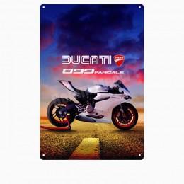 Ducati Corse tablica Vintage metalowy znak blaszany Pub Bar garaż ozdobny talerz Motorcylce metalowy obrazek naklejki ścienne si