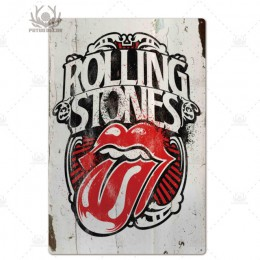 Zespół rockowy metalowy plakat plakietka metalowa Vintage metalowy znak blaszany dekoracje ścienne dla człowieka jaskinia Bar Pu