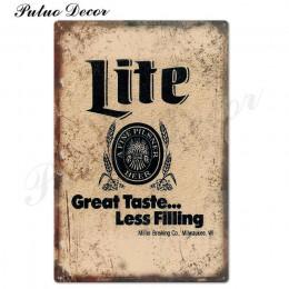 Piwo znak metalowy znak plakietka metalowa Vintage Pub znak blaszany dekoracje ścienne dla Bar Pub Club Man jaskinia blaszane ta