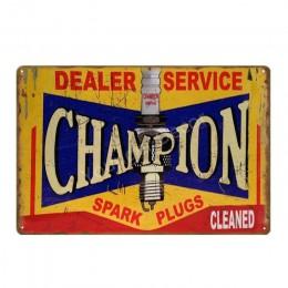 Opona plakat Metal Vintage znaki blaszane dekoracja ściany tablica wystrój garażu olej silnikowy benzyna świece zapłonowe płyta