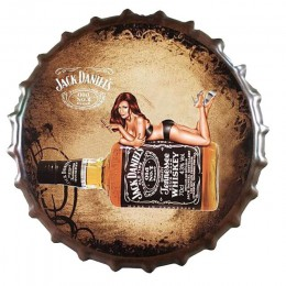 Zakrętka do piwa Whisky Vintage tablica metalowe plakietki emaliowane Cafe Bar Pub szyld dekoracje ścienne Retro Nostalgia okrąg