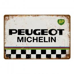 Olej silnikowy i benzyna metalowe tabliczki motocykle samochody ciężarowe opony wystrój garażu tablica dekoracyjna plakat artyst