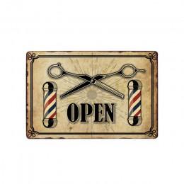 Vintage do salonu fryzjerskiego metalowe tabliczki Barbershop plakat Cafe Bar Pub Retro tablica strzyżenie i golenie broda żelaz
