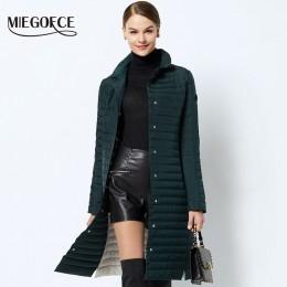 MIEGOFCE 2019 kobiet ocieplana kurtka z bawełny cienkie kobiety pikowane parki długa wiosna wiatroszczelne damskie kurtki wiosen