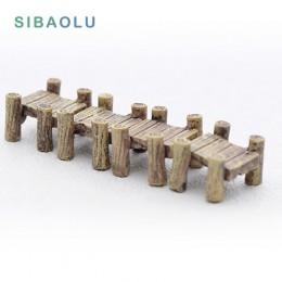 Mech mikropejzaż Mini rzemiosło żywiczne most figurka jardin home decor miniaturowe bajkowe akcesoria do dekoracji ogrodu nowocz