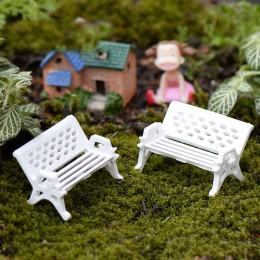 10 sztuk/partia mini ogród dekoracje krzesła bajki miniatury ogrodowe figurki do Terrarium krzesło rzemiosło dekoracji Terrarium