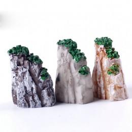 5/10 sztuk/zestaw Mini Mountain miniaturowe zabawki ozdoby Bonsai roślin ogrodnictwo akcesoria ogrodowe żywicy naturalnej domu d