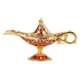 Rosyjska lampa Hollow Wishing magiczna lampa ze stopu cynku pragnąc dzbanek na herbatę Retro Home ornament dekoracyjny prezenty