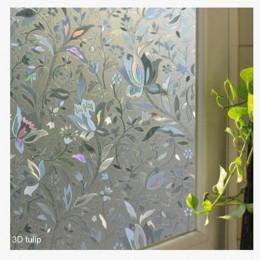 Naklejki na szkło matowe nieprzezroczyste łazienka Home Decor własna sypialnia salon szeroki 45cm okno ochrona prywatności długi