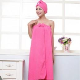 BAKINGCHEF damski ręcznik kąpielowy z mikrofibry zestaw z opaską do włosów szlafrok tekstylia domowe artykuły łazienkowe akcesor