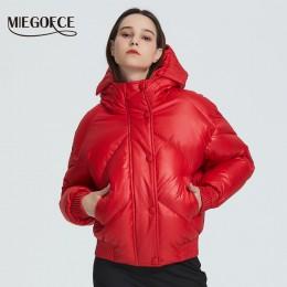 MIEGOFCE 2019 nowy projekt płaszcz zimowy kurtka damska izolowane Cut talia długość z kieszeniami parka w stylu casual stojak ko