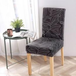 Druk kwiatowy Stretch elastyczne pokrowce na krzesła elastan na ślub jadalnia pokrowiec krzesła bankietowego rozciągliwy