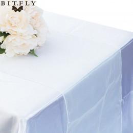 30 kolorów strona dekoracje bankietowe łuk Swag dekoracje ślubne kryształowy tiul Plum Organza element z prześwitującej gazy bie