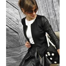 Nowe damskie płaszcze typu basic kurtki wiosna czarna krótka kurtka ze skóry ekologicznej zapinana na suwak Punk Style bandaż ko