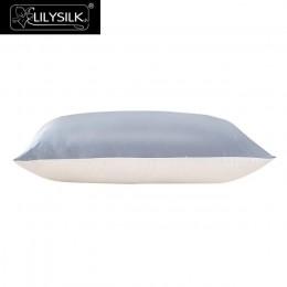 LilySilk poszewka jedwabiu z bawełny do włosów 100 czysty naturalny luksus ukryty zamek błyskawiczny Terse morwy hipoalergiczny
