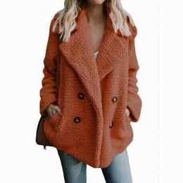 Pluszowy płaszcz kobiety zimowe kurtki puszysty pluszowy płaszcz kobiet ciepłe sztuczne polary zimowe ubrania 5XL Plus rozmiar M