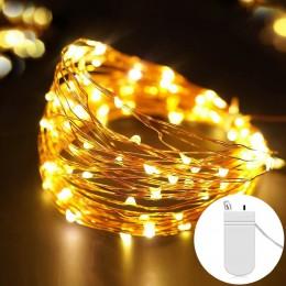 Fairy 2M 5M zasilanie bateryjne lampki led na drucie miedzianym na ślub boże narodzenie Garland Festival dekoracje do domu na im