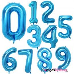 W gigantycznym rozmiarze 40 i 42 Cal niebieski/różowy duże cyfry z balonów foliowych 0-9 urodziny ślub przyjęcie zaręczynowe wys