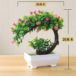 Nowe sztuczne rośliny Bonsai małe drzewa rośliny doniczkowe sztuczne kwiaty ozdoby doniczkowe do dekoracji wnętrz Hotel wystrój