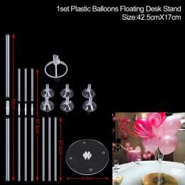 1 zestaw balon z nadrukiem happy birthday balony kij stojak balon dekoracje na przyjęcie urodzinowe dzieciak dorosły łuk stół Ba