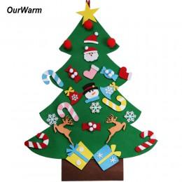 OurWarm DIY czuł choinki prezenty na nowy rok dzieci zabawki sztuczne drzewo ozdoby na ścianę świąteczne dekoracje do domu