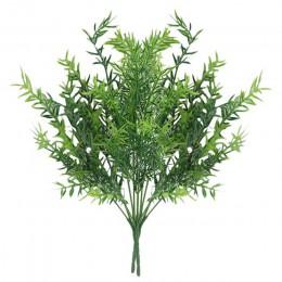 7 widelec woda trawa eukaliptus plastikowe sztuczne rośliny zielona trawa plastikowy kwiat roślina ślub strona główna stół dekor