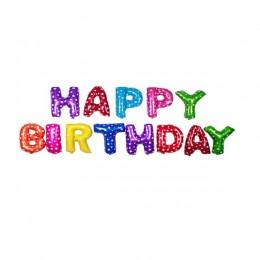 16 cal litery urodzinowe balony z folii dekoracja na przyjęcie z okazji urodzin dla dzieci balony z literami alfabetu przybory d
