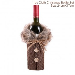 FENGRISE święty mikołaj pokrowiec na termofor do ozdób choinkowych do domu 2019 Christmas Stocking Gift Navidad noworoczny wystr