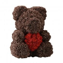 2018 gorąca sprzedaż 40cm niedźwiedź sztuczne kwiaty róży strona główna festiwal ślubny DIY tanie prezent na ślub pudełko wienie