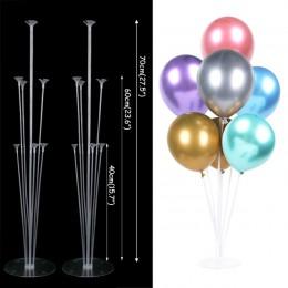 Serce gwiazda złoty balon do konfetti stojak z okazji urodzin balony metaliczny chrom Baby Shower dekoracje ślubne balony helowe