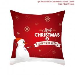QIFU 45x45cm ełk Snowflake święty mikołaj poszewka na boże narodzenie dekoracje świąteczne na boże narodzenie w domu 2019 Navida