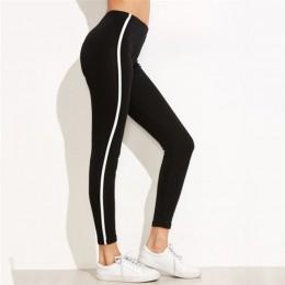 Legginsy na co dzień legginsy sportowe Fitness oddychające czarne Jeggings Activewear rozciągliwe dopasowanie spodnie damskie le