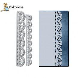 Kokorosa wykrojniki metalowe wykrojniki półkole z krajką z koronki krawędzi Die Scrapbooking Album tworzenie kartek szablon do w
