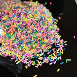 20 g/partia długi cylindryczny polimer gorąca miękka glina zraszacze kolorowe dla majsterkowiczów małe słodkie plastikowe akceso