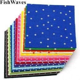 24 sztuk 1mm czuł mieszane kolory wzorzyste Dot czuł włóknina poliestrowa tkaniny filcowe tkaniny Handmade DIY igły sztuka szyci