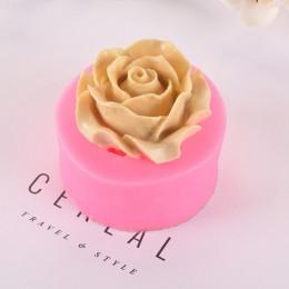 Lilac Rose Lily kremówka silikonowe formy gips ciasto dekorowanie czekolada diy narzędzia do pieczenia 3d silikonowe formy mydło