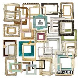 ZFPARTY 35 sztuk Vintage ramki do zdjęć karton Die Cut dla DIY scrapbooking/dekoracja albumu fotograficznego rzemiosła