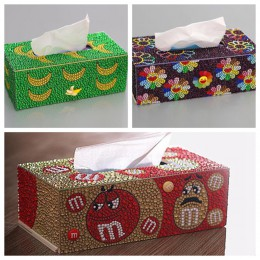 Diamentowe pudełko na chusteczki trójwymiarowe rękodzieło kosmetyczny podajnik ręczników papierowych dziecięca układanka do samo