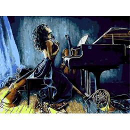 AZQSD ręcznie malowany obrazek numerami dorośli portret pełne zestawy farba olejna według numerów rysunek rysunek 50x40cm Home D