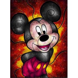 W pełni z okrągłych/kwadratowy mysz z kreskówki 5D DIY obraz w hafcie diamentowym wzór 3d krzyż zestaw do szycia wystrój sali śl