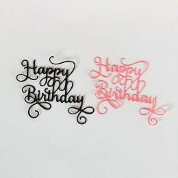Wszystkiego najlepszego z okazji urodzin do cięcia metalu matryce do scrapbookingu Album DIY tłoczenie Folder karta papierowa Ma