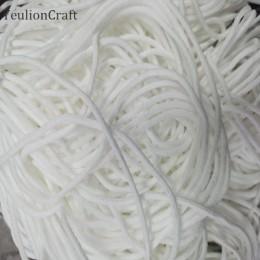 YeulionCraft elastyczna maska zespół maska liny taśma gumowa maska ucha wiszące sznur okrągły przewód 0.3cm dla DIY odzież rzemi