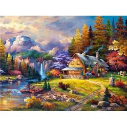 Evershine 5D obraz diamentowy z krajobrazem z krzyżami ścieg domowy haft sprzedaż robótki mozaika obrazki z kryształów górskich