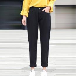 Nowe damskie 2020 marka modne dżinsy czarne białe niebieskie spodnie harem sprane dżinsy spodnie kobiece luźne dżinsy vintage dż